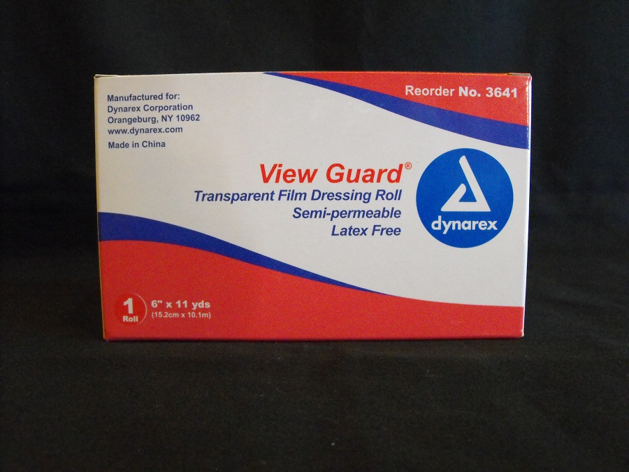 "View Guard Transparent Film Dressing Roll 6""x 11yds"